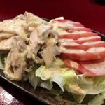 中国蘭州牛肉拉麺 王記 - 棒棒鶏サラダ