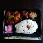 まん福からあげ志みず - 酢鶏弁当¥420