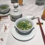 Shisentoufahansou - アオサと卵白のスープ