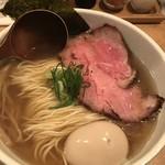 中華蕎麦 蘭鋳 - 味玉そば(900円)+大盛り(100円)