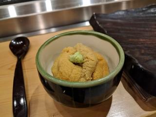 潮り - 小丼 塩水ウニ(キタムラサキ)