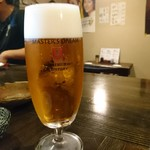 炭火焼鳥とおり - 生ビール
