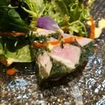 Shimanamifurenchimurakami - レモンポークハムはきめ細かい柔らかさで素晴らしい弾力と旨味、パプリカやチーズのソースが合う!