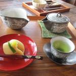 ティーショップ夕日 - 八女茶セット