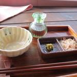 ティーショップ夕日 - 八女茶を食べるセット