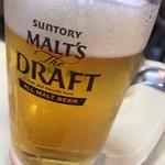 立飲み 天下 - 生ビール
