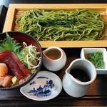 かごの屋 - 二味まぐろ丼とざるそばセット(¥1390+100)