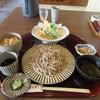 蕎麦や 銀次郎 - 料理写真:暫く待つと注文した蕎麦の花ランチ(ご飯付)1450円の出来上がりです。
