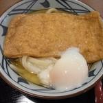 丸亀製麺 - きつねうどん+温泉玉子