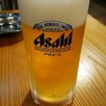 やいろ亭 - アサヒ 生ビール