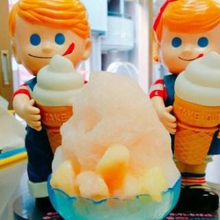 自家製シロップのふわふわかき氷
