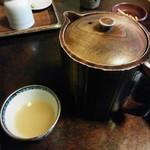 草庵 - 蕎麦湯