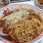 蒙古タンメン中本 - 北極ラーメン麺見せ♡