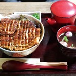 うな豊 - ■まぶし丼 3600円(肝吸い付)