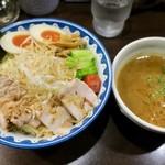 ガンコンヌードル - 「ガンコンエビつけ麺」(1200円) ※麺大盛り