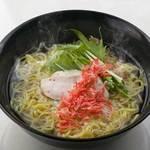 あっさり!鶏ハムの塩スープラーメン~桜エビを散らして~
