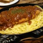 炭焼きイタリアン 炭リッチ - スパカツのランチセット 1,280円