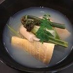日本料理四四A2 - 蛤・筍・山菜のお椀
