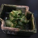 日本料理四四A2 - 胡瓜の塩もみ