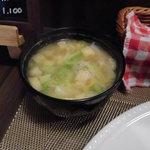 木村洋食店 - 具だくさん味噌汁