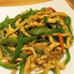 桂林米粉 山水家 - 青椒肉絲。
