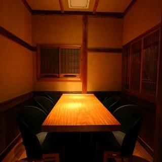 2人~10人の、落ち着いた個室
