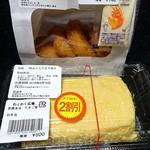 わくわく広場 - 料理写真:明太子入り玉子焼きとエビカツ