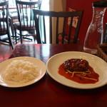 肉バル ゴージラ - ライスと山形牛のハンバーグ