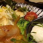 九州焼肉 てにをは - 添え物野菜アップ