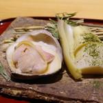 かまくら和久 - 焼き蛤、若竹蒸し