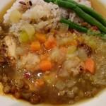 ロイヤルホスト - 彩り野菜のスープ仕立てごはん(スープかけ後)