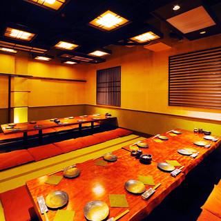 【大小完全個室完備!最大宴会24名様までの個室あります!】