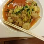 新日本料理 越後家 - 食べかけのホルモン野菜炒め