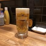 どてと串カツ ミスターラッキー - 生ビール
