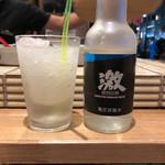 どてと串カツ ミスターラッキー - シャリ銀酎ハイ(すだち)
