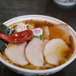 とら食堂 - 焼豚醤油ワンタン麺1030円