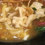 うどん小屋 柔製麺 - 天かす(´∀`)