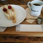 アトリエ・モリヒコ - スイーツサンドとコーヒー。680円。