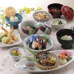 銀座 天國 - 2階 会席料理「彩」(あや)5,940円(税込)