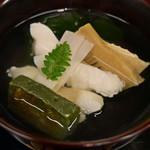 東家 - アイナメ、若竹の椀