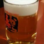 赤から - 生ビール(中ジョッキ)(490円)
