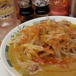 日高屋 - 味噌ラーメン500円を細麺 一味、胡椒、ラー油がけ