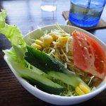 海の展望台 シーサイドカフェ - 付いてるサラダ