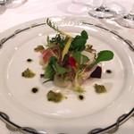 84309954 - 多色野菜の取り合わせ 生ハムとイカの軽いソテー