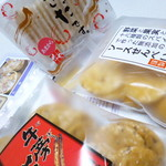 せんや - 料理写真:3種類のお煎餅を購入