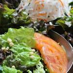 七輪 - 料理写真:サラダ