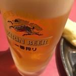 インドレストラン ガンジス - 生中(*´ω`*)一番搾り