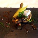 84318799 - 温前菜:ホワイトアスパラと蝦夷アワビ