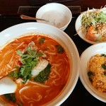 ジャスミンタイ - 酸辣湯麺セット