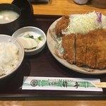 とんかつ竹亭 - 上とんかつ定食(1,100円)